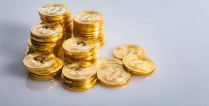 仮想通貨が積み重なっている様子
