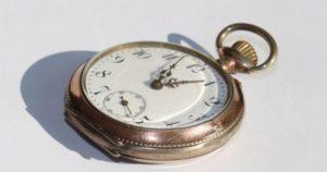 時間を図る時計の写真