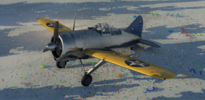 ゲームWar Thunderのアメリカ空軍航空機 F2A-1 バッファローの画像
