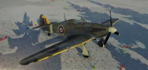 ゲームWar Thunderのイギリス空軍航空機 シーハリケーン Mk.IBの画像