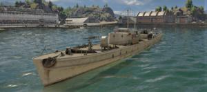 ゲームWar Thunderのドイツ海軍軍艦 R-boot R-130の画像