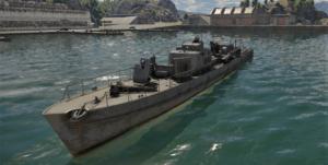 ゲームWar Thunderのドイツ海軍軍艦 R-boot R-301の画像