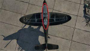 ゲームWar Thunder(ウォーサンダー)パイロット付近を狙っている画像