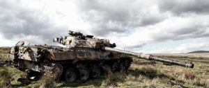 放棄された戦車の画像