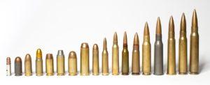 沢山の種類の弾薬