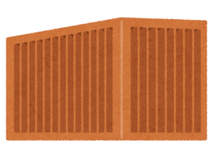 輸送コンテナのイラスト